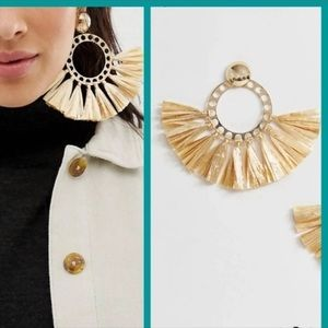 NWT Free People Tassel statement earrings